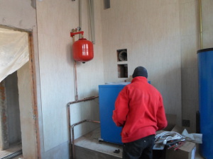 Установка отопления
